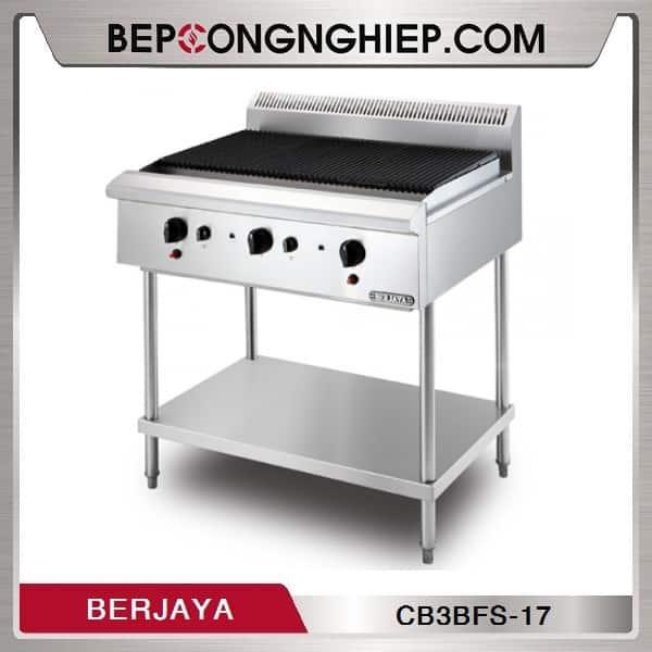 Bếp Nướng 3 Họng Dùng Gas Có Chân Đứng Berjaya