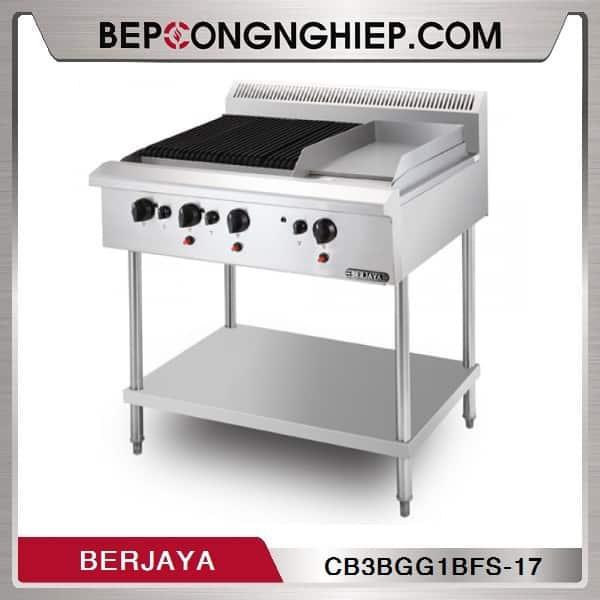 Bếp Nướng Nhân Tạo Và Rán Phẳng Có Chân Đứng Berjaya
