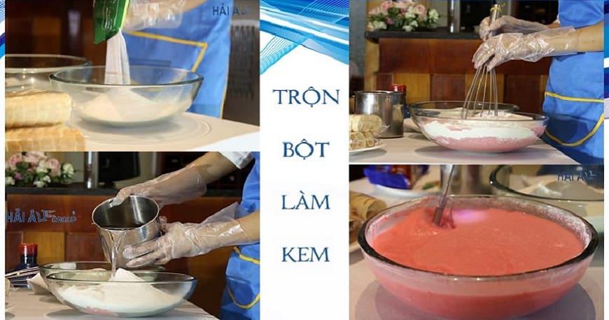 quy trình làm kem tươi 4 bước với mày làm kem tươi hải âu
