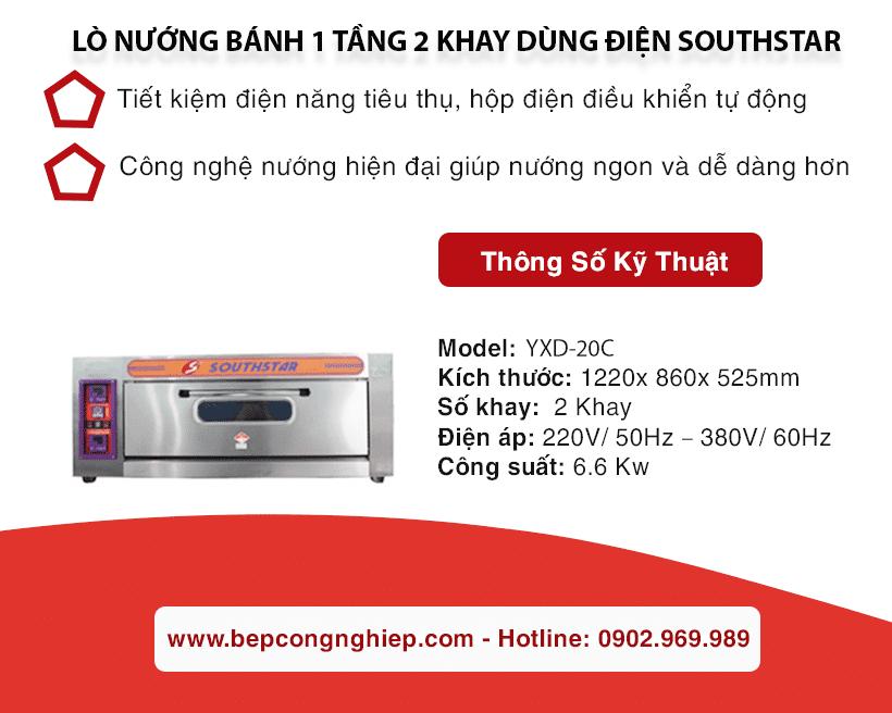 lo nuong banh 1 tang 2 khay dung dien southstar yxd 20c banner 1