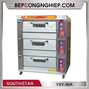 Lò Nướng Bánh 3 Tầng 6 Khay Dùng Gas Southstar YXY-60A