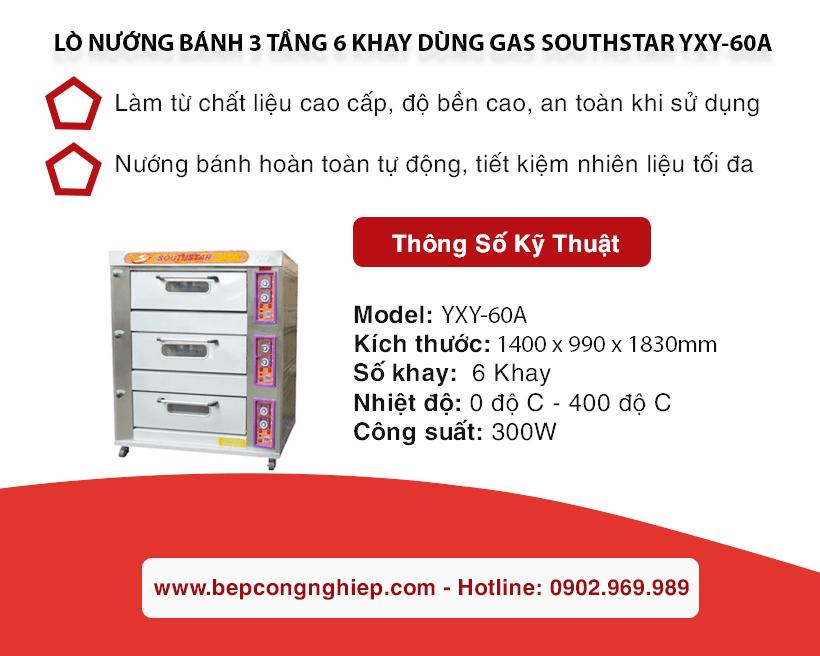 lo nuong banh 3 tang 6 khay dung gas southstar yxy 60a banner 1