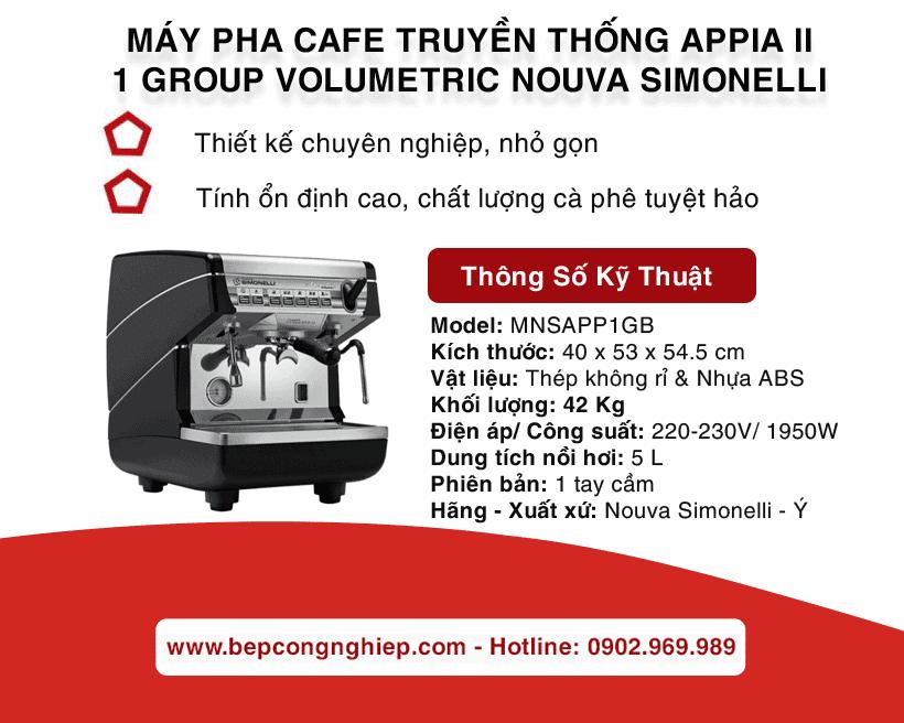 may pha cafe truyen thong appia ii 1 group volumetric nouva simonelli black banner 1