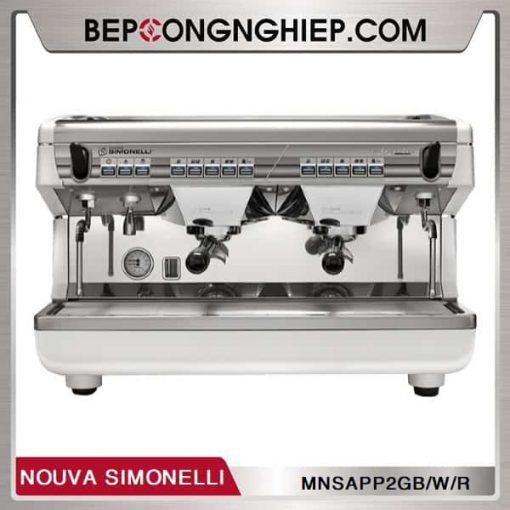 may pha cafe truyen thong appia ii 2 group volumetric nouva simonelli white
