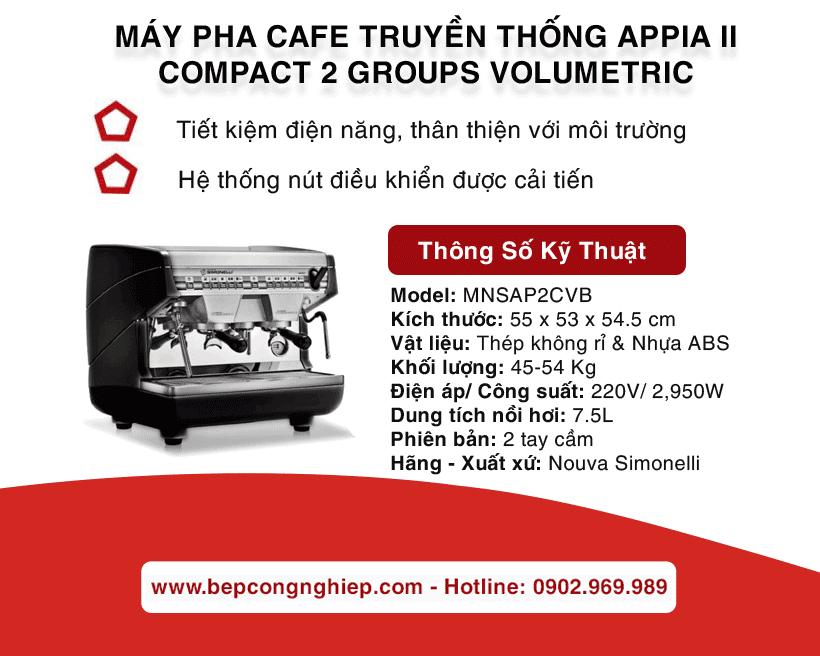 may pha cafe truyen thong appia ii compact 2 groups volumetric nouva simonelli banner 1