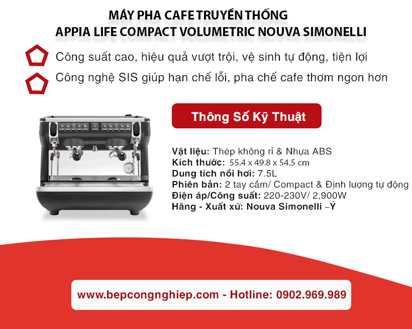 may pha cafe truyen thong appia life compact volumetric nouva simonelli banner 1