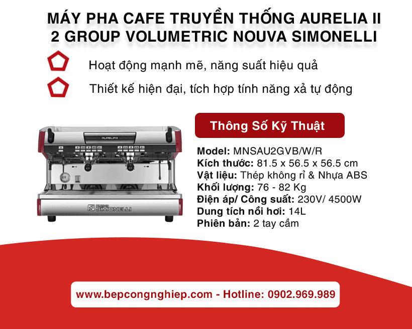 may pha cafe truyen thong aurelia ii 2 group volumetric nouva simonelli banner 1