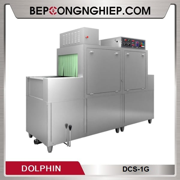Máy Rửa Bát Băng Chuyền Kết Hợp Giá Kệ DCS-Series Dolphin
