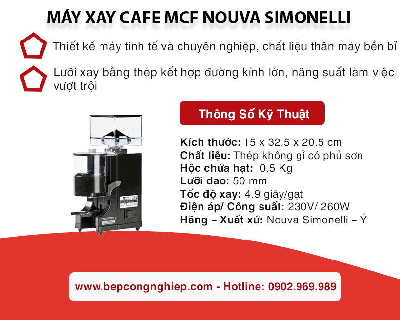 may xay cafe mcf nouva simonelli banner 1