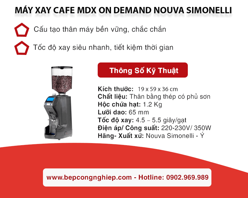 may xay cafe mdx on demand nouva simonelli banner 1