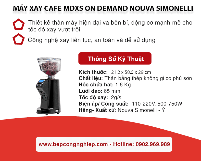 may xay cafe mdxs on demand nouva simonelli banner 2