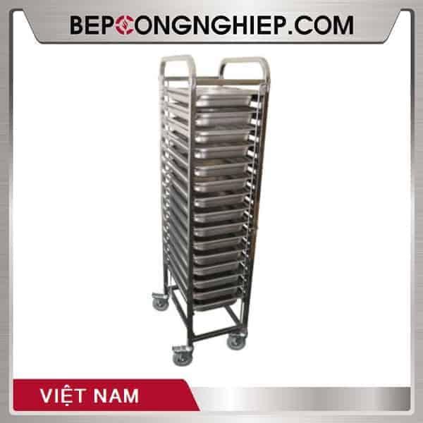 Xe Đẩy Khay Inox Việt Nam