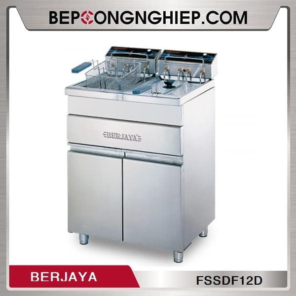 Bếp Chiên Nhúng Đôi Dùng Điện Có Chân Đứng Berjaya FSSDF12D