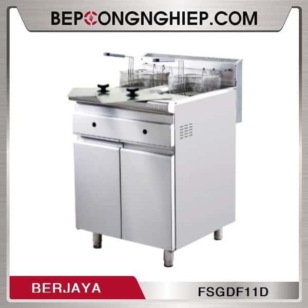 Bếp Chiên Nhúng Đôi Dùng Gas Có Chân Đứng Berjaya FSGDF11D