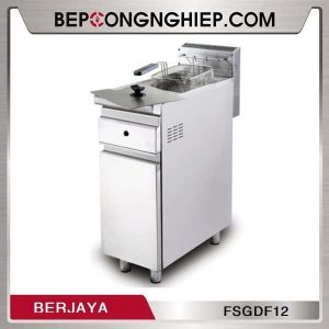 Bếp Chiên Nhúng Đơn Dùng Gas Có Chân Đứng Berjaya FSGDF12