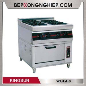 Bếp Công Nghiệp 4 Đầu Kèm Lò Nướng Điện Kingsun WGF4-6