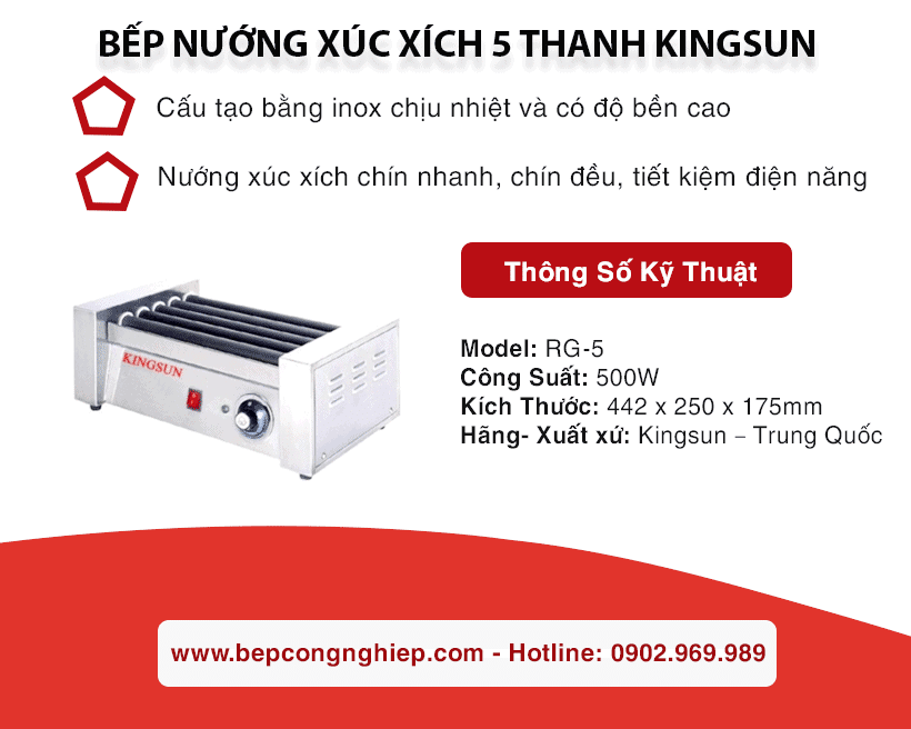 bep nuong xuc xich 5 thanh kingsun banner 1