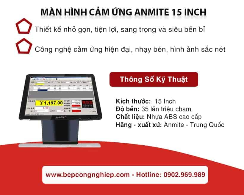 man hinh cam ung anmite 15 inch