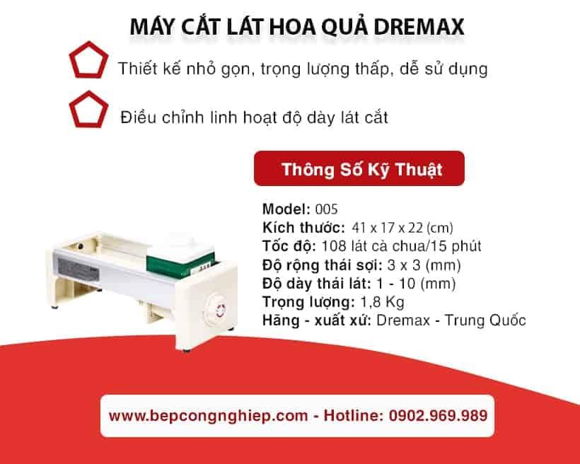 Thông tin sản phẩm Máy cắt lát hoa quả Dremax