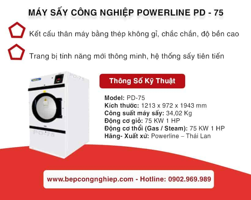 may say cong nghiep powerline pd 75 2