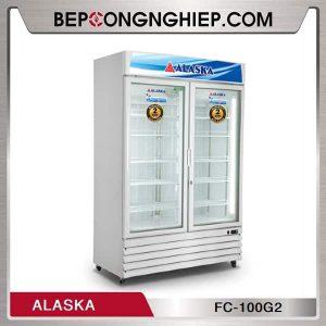 Tủ Đông 2 Cánh Kính Đứng 1000L Alaska
