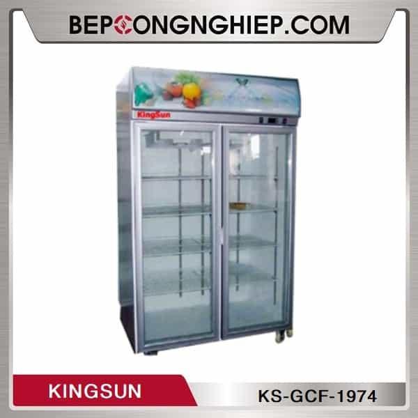Tủ Đông 2 Cánh Kính Kingsun KS-GCF-1974