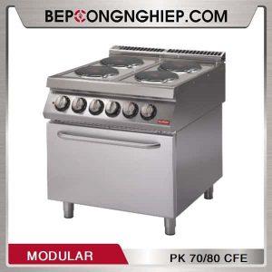 Bếp Âu 4 Họng Có Lò Nướng Dùng Điện Modular PK 70/80 CFE