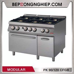 Bếp Âu 6 Họng Có Lò Nướng Dùng Gas Modular PK 90/120 CFGB