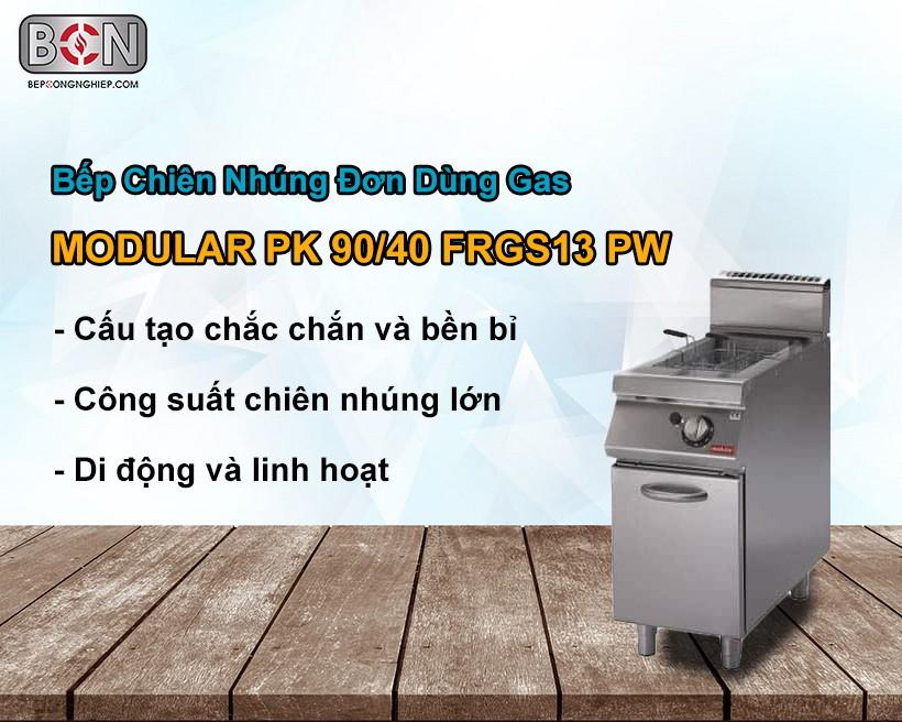 Bếp chiên nhúng đơn dùng gas Modular New 1