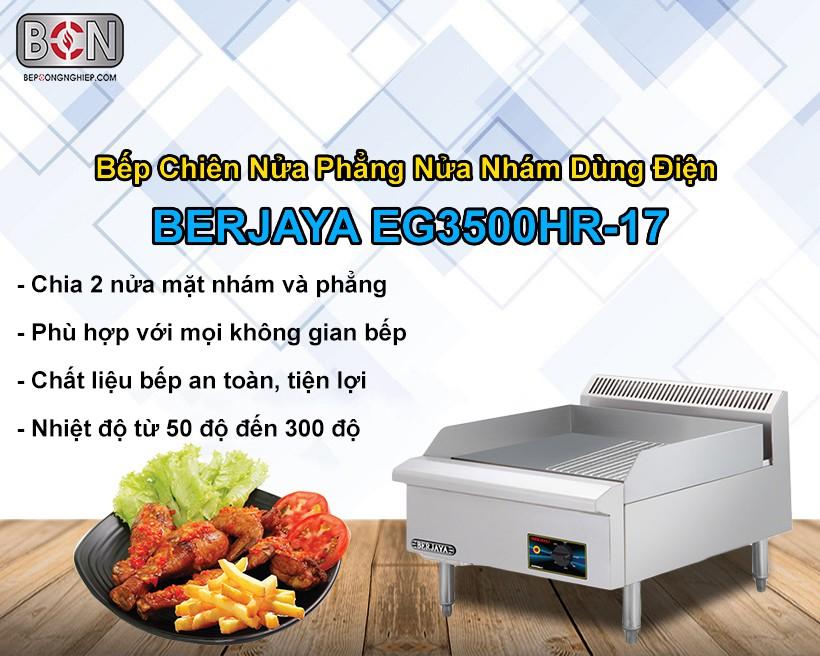 Bếp chiên nửa phẳng nửa nhám dùng điện Berjaya New 1