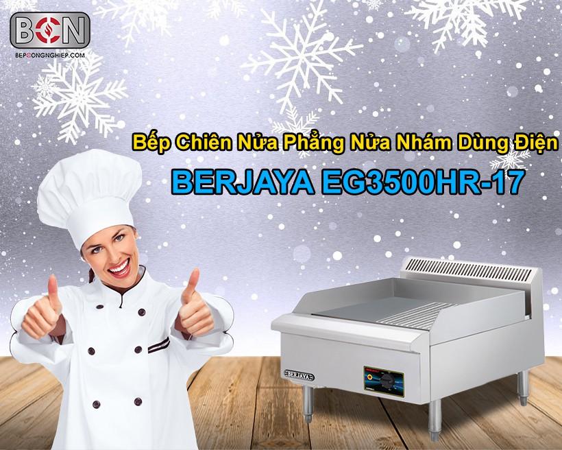 Bếp chiên nửa phẳng nửa nhám dùng điện Berjaya New