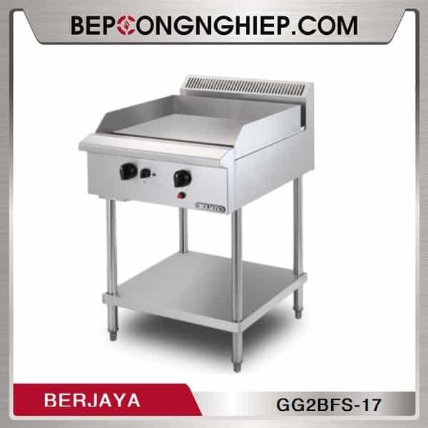 Bếp Chiên Phẳng 2 Họng Dùng Gas Có Chân Đứng Berjaya GG2BFS-17