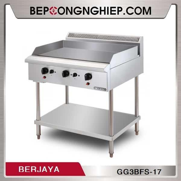 Bếp Chiên Phẳng 3 Họng Dùng Gas Có Chân Đứng GG3BFS-17