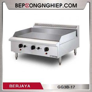 Bếp Chiên Phẳng Dùng Gas 3 Họng Berjaya GG3B-17