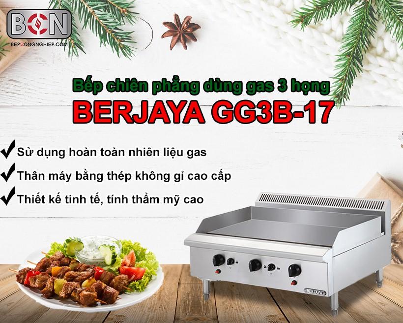 bếp chiên phẳng dùng gas 3 họng Berjaya New 1