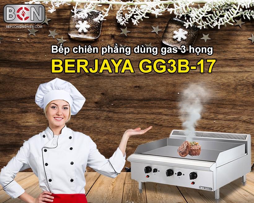 bếp chiên phẳng dùng gas 3 họng Berjaya New