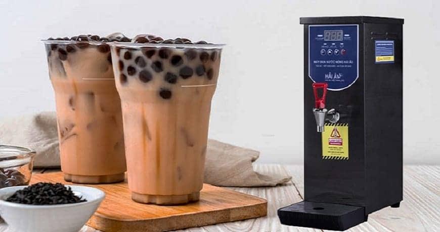 mở quán kinh doanh trà sữa với máy đun nước nóng