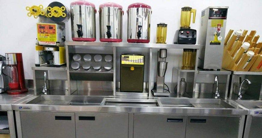 những thiết bị cần phải có cho cửa hàng trà sữa