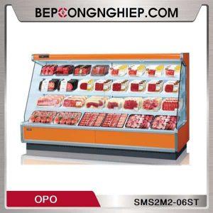 Tủ Mát Trưng Bày Thịt Dạng Mở Nhiều Ngăn OPO SMS2M2-06ST
