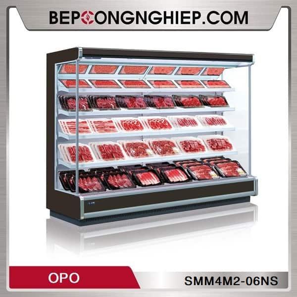 Tủ Mát Trưng Bày Thịt Tươi Dạng Mở OPO SMM4M2-06NS