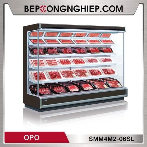 Tủ Mát Trưng Bày Thịt Tươi Dạng Mở OPO SMM4M2-06SL