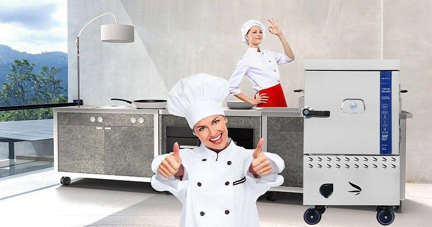 tủ nấu cơm thiết bị bếp công nghiệp