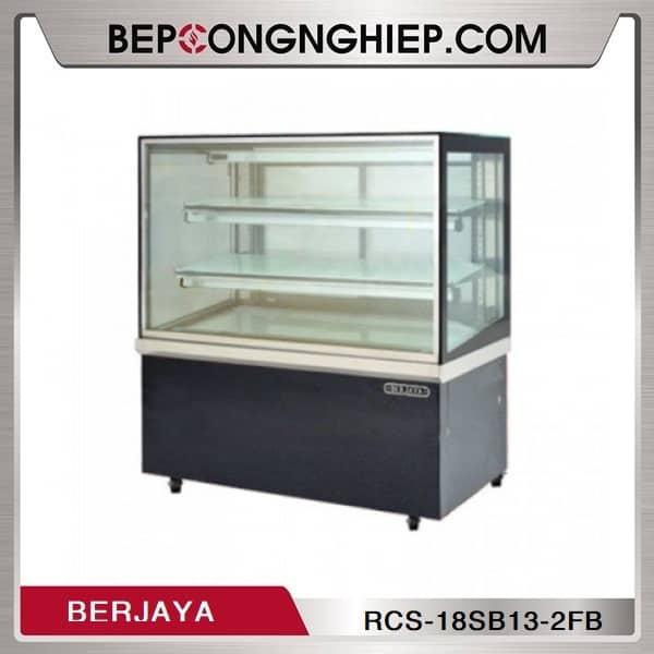 Tủ Trưng Bày Bánh Kính Vuông 2 Tầng Berjaya