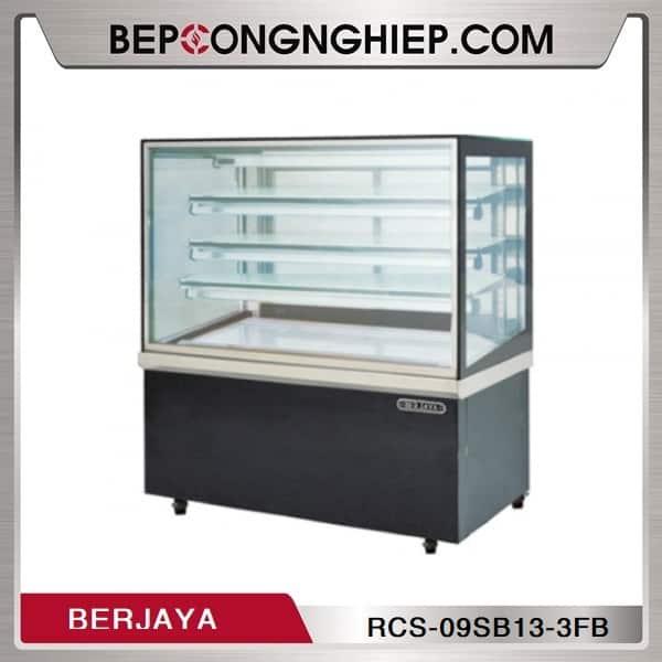 Tủ Trưng Bày Bánh Kính Vuông 3 Tầng Berjaya