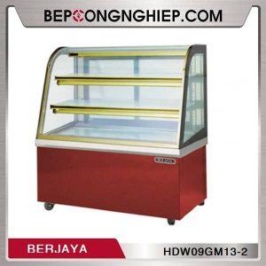 Tủ Trưng Bày Bánh Nóng Cánh Kính Cong 2 Tầng Berjaya