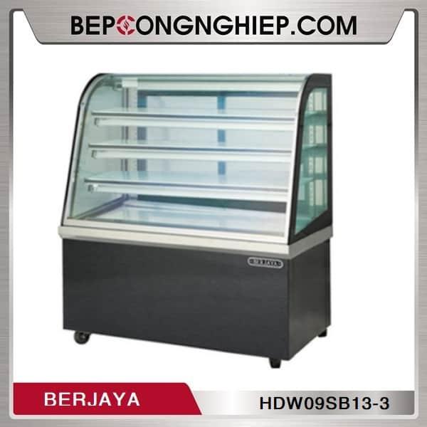 Tủ Trưng Bày Bánh Nóng Cánh Kính Cong 3 Tầng Berjaya