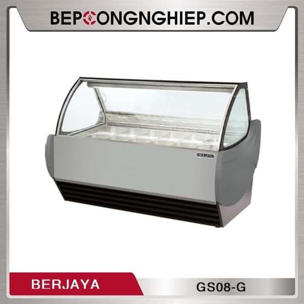 Tủ Trưng Bày Kem 8 Khay Berjaya