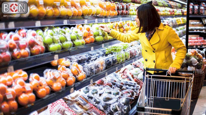 thiết bị bảo quản rau củ tại siêu thị